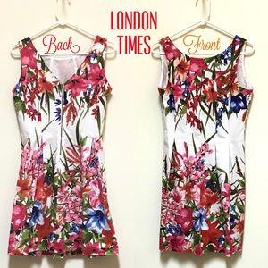 London Times Flower Garden Dress